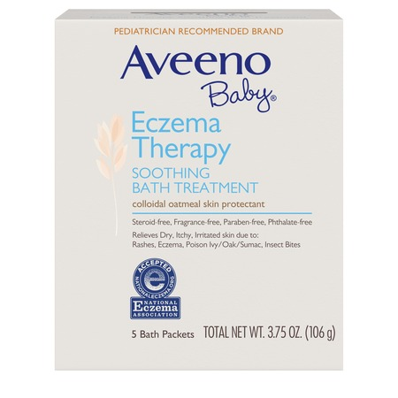 Aveeno Baby Eczema Therapy Soothing Bath Treatment with Natural Oatmeal, 5