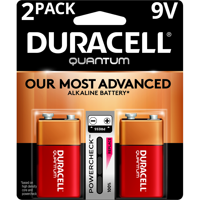Duracell Quantum Alkaline, 9V Batteries with PowerCheck, 2 Pack