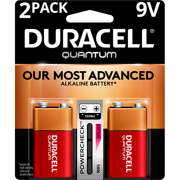Duracell Quantum Alkaline 9V Batteries with PowerCheck 2 Pack