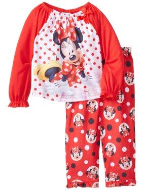 Disney Little Girls'  Minnie Mouse Toddler Pajama