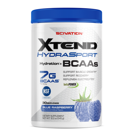 Scivation Xtend Hydrasport BCAA Powder, Blue Raspberry, 30
