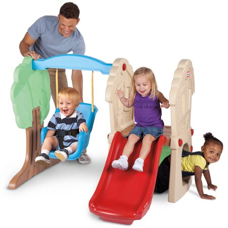 Little Tikes Hide Seek Climber And Swing Brown Tan Walmart Com