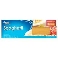 (4 pack) Great Value Spaghetti, Family Size, 3 lb