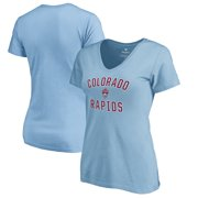 e7613e59411 Colorado Rapids Fanatics Branded Women's Victory Arch V-Neck T-Shirt -  Light Blue