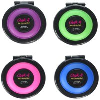 Blingirls Chalk-it Hair Coloring Chalk, Temporary Hair Coloring in Bright Colors Purple, Green, Pink, Blue, Works On All Hair Colors