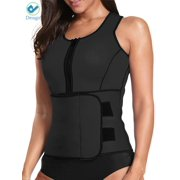 2c25f5469e3 Deago Womens Neoprene Sauna Suit Waist Trainer Zipper Vest with Adjustable  Waist Trimmer Belt Body Shaper