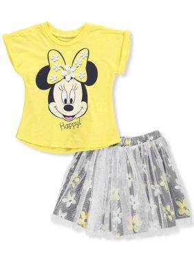 Disney Minnie Mouse Girls' 2-Piece Skirt Set Outfit