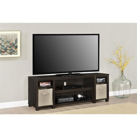 "Mainstays TV Stand with Bins for TVs up to 65"", Multiple Colors - Espresso"