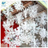 Deago 30 Pcs Christmas Snowflake Ornaments Decoration For Tree Holiday Party Store Home Xmas Decor (4.33inch)