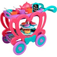 Kid Connection 47-Piece Tea Cart Play Set with Removable Tray for Serving