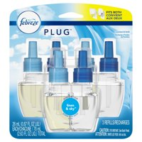 Febreze Plug Air Freshener Scented Oil Refill, Linen & Sky, 3 count