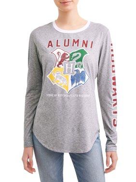 Juniors' Graphic Long Sleeve T-Shirt
