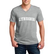 Lithuania Lithuania Men V-Neck Shirts Ringspun