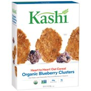 (2 Pack) Kashi Heart to Heart Organic Oat Cereal, Blueberry Clusters, 13.4 Oz