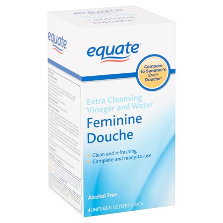 Equate Extra Cleansing Vinegar and Water Feminine Douche, 4.5 fl oz, 4 count