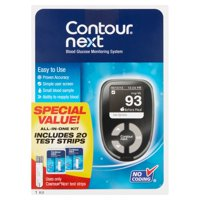 Contour Next Blood Glucose Monitoring System, 1 Kit