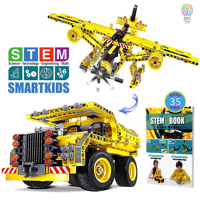 Building Toys Gifts for Boys & Girls Age 6yr-12yr, Construction Engineering Kits for 7, 8, 9, 10 Year Old, Educational STEM Learning Sets for Kids