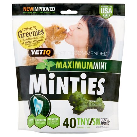 Minties Teeth Cleaner Dental Dog Treats Tiny/Small, 40 - Four Paws Dog Dental Care