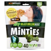 35% Off New Year Special! Minties Teeth Cleaner Dental Dog Treats Tiny/Small, 40 count