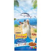 Friskies Seafood Sensations Adult Dry Cat Food, 6.3 lb