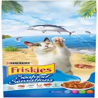 Friskies Seafood Sensations Adult Dry Cat Food, 6.3 lb