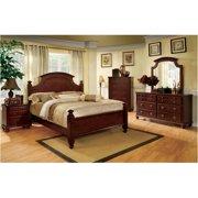 1acc67c5ac319 Furniture of America Dryton 4 Piece Queen Bedroom Set in Cherry