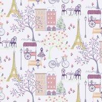 Paris Stroll Carnation Waverly Inspirations 100% Cotton Print fabric, Quilting fabric, Home Decor ,44'', 140GSM