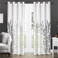 Exclusive Home Curtains 2 Pack Wilshire Burnout Sheer Grommet Top Curtain Panels