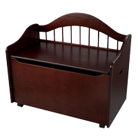 KidKraft Limited Edition Wooden Toy Box and Bench with Handles and Safety Hinges - Cherry