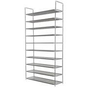 Homegear 10 Tier Free Standing Shoe Rack / Tower / Storage Organizer