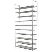Homegear 10 Tier Free Standing Shoe Rack Tower Storage Organizer