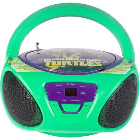 Sakar Nickelodeon 57065-tru Teenage Mutant Ninja Turtles CD Boombox](Children's Boombox)