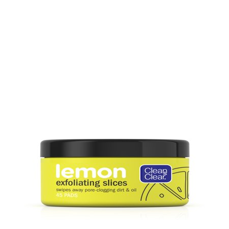 Clean & Clear Lemon Exfoliating Facial Pads with Vitamin C, 45
