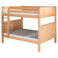 Camaflexi Full over Full Bunk Bed with Twin Trundle - Panel Headboard - Grey Finish