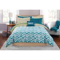 Mainstays Ombre Chevron Bed in a Bag Coordinating Bedding Set
