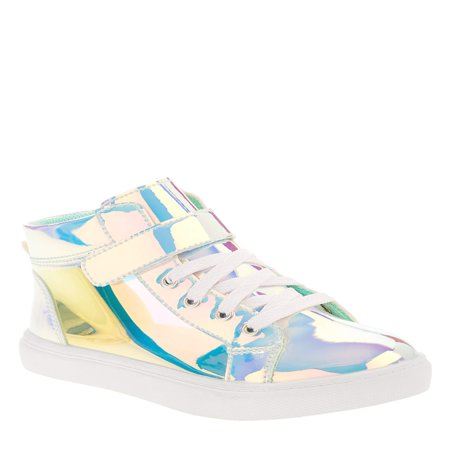 Wonder Nation Girls' Athletic Holographic High Top Sneaker - Girls Converse Sneakers