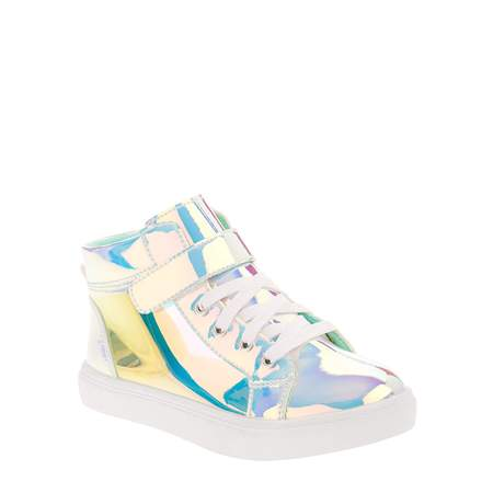 Girls Wonder Nation Translucent Hitop Sneaker - High Top Sparkle Sneakers