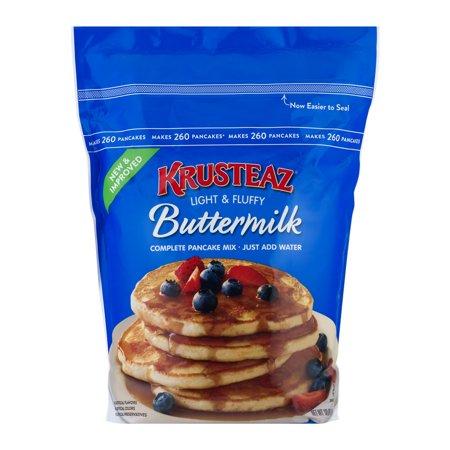 Krusteaz Light & Fluffy Complete Buttermilk Pancake Mix Family Size, 10 lb Bag