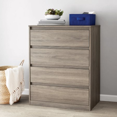 Mainstays Westlake 4 Drawer Dresser, Multiple Colors - Oak Six Drawer Chest