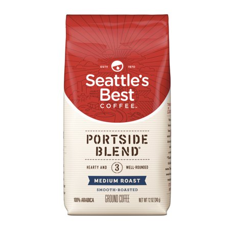 Seattle's Best Coffee Portside Blend (Previously Signature Blend No. 3) Medium Roast Ground Coffee, 12-Ounce