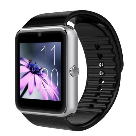 T6 Bluetooth Smart Watch Wrist Watch with Camera For Android IOS Smart Phone Samsung S5 / Note 2 / 3 / 4, Nexus 6, HTC, Sony, Huawei and Other Android Smart (Best Smartwatch Under 100)