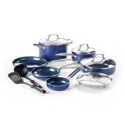 Blue Diamond Toxin-Free Ceramic Non-Stick Cookware Set, 12-Piece - Dishwasher, Oven, Broiler, Metal Utensil Safe