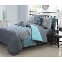 Amber 9pc Quilt Set - Queen - Aqua