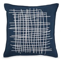 "MoDRN Industrial Chain Stitch Decorative Throw Pillow, 20"" x 20"""