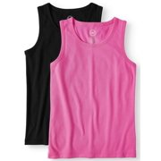 645491c137277 Solid Ribbed Tank Tops