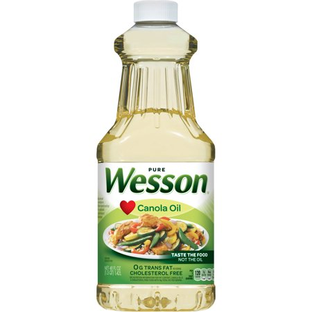 (2 Pack) Wesson Pure Canola Oil, 48 Fl Oz (Wesson Best Blend Oil)
