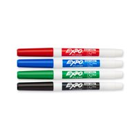 EXPO Low Odor Dry Erase Markers, Fine Tip, Assorted Colors, 4 Count