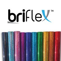 "BriFlex Heat Transfer Holo Foil Vinyl for T-Shirt and Apparel 20"" x 3' (1 Yard) Iron on HTV-OLDGOLD"