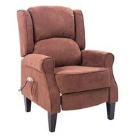 HomCom Heated Vibrating Suede Massage Reclining Arm Chair