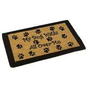 American Mills My Dog Walks Outdoor Coir Doormat 8975a9e00